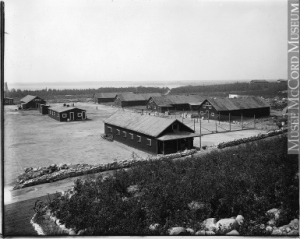 Camp de détention de Spirit Lake, district d'Abitibi, QC, 1916 (?)