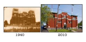 Manège militaire de Beauport. Comparaison d'hier et aujourd'hui.
