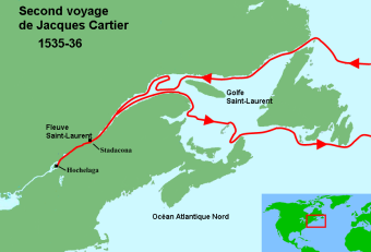 Second voyage de Cartier, 1535-1536.