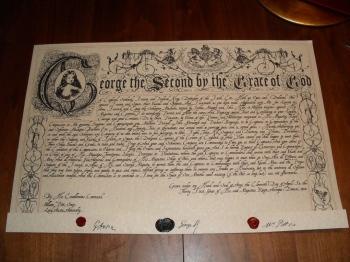 Lettre de marque anglaise de 1758.