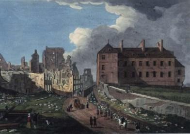 La ville en ruine. 1759.