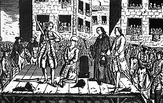 Décapitation de Lally-Tollendal (1766). Le bourreau s'y reprendra à plusieurs fois pour trancher la tête.