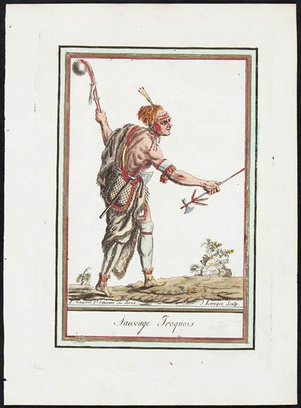 Guerrier Iroquois. Jacques Grasset de Saint-Sauveur, 1764-1804. BAC, MIKAN 3025438